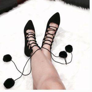 Shoes - Pom Pom Flats